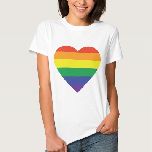 Message of Love Shirt - Rainbow Heart