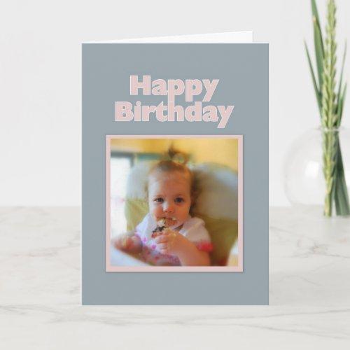 Messy Baby Happy Birthday Card card