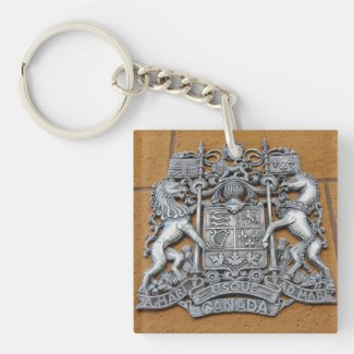Metal Canada Coat of Arms Key Chain