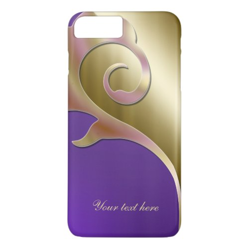 Metallic Gold purple iPhone 7 Plus Case