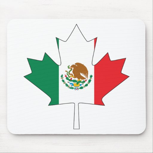 mexican canadian flag mouse pad zazzle