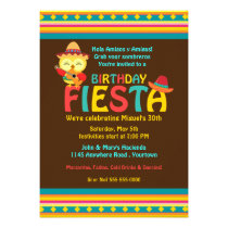 Mexican Owl Birthday Fiesta Invitations