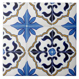 blue mexican decorative ceramic tiles