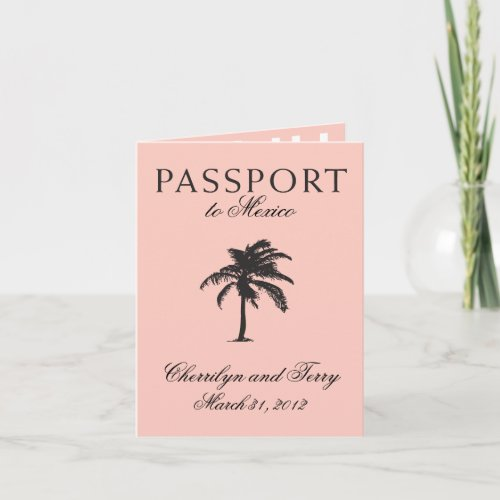 Mexico Passport Wedding Save the Date Holiday Card