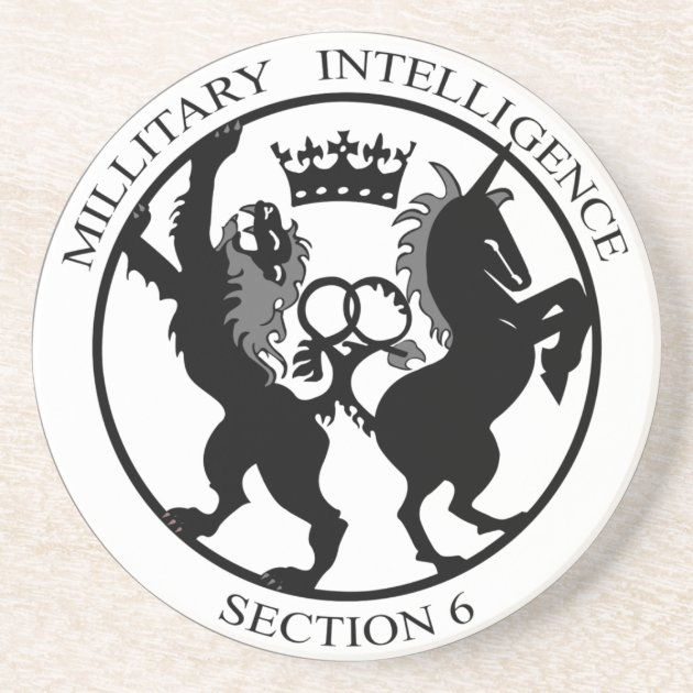 MI6 Logo Secret Service Coaster Zazzle