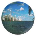 Miami Florida Party Plate