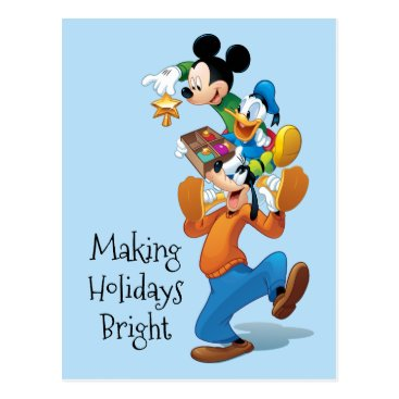 Mickey And Friends | Mickey Decorating The Tree Postcard