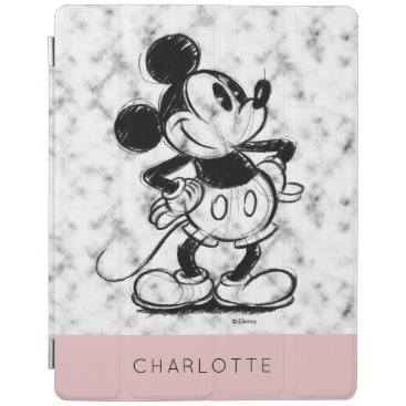 Mickey | Marble - Add Your Name iPad Smart Cover