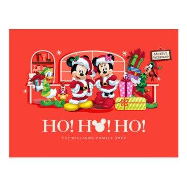 Mickey & Minnie | Ho Ho Ho Postcard