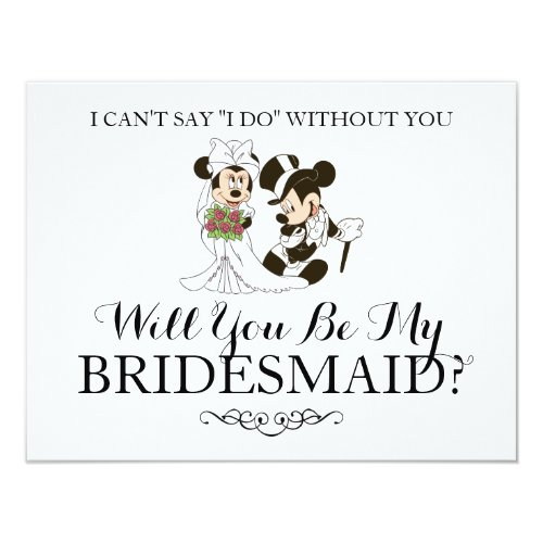 Mickey &amp&#x3B; Minnie Wedding | Married Bridesmaid Invitation