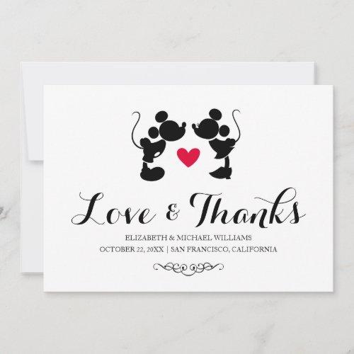 Mickey &amp&#x3B; Minnie Wedding | Silhouette Thank You