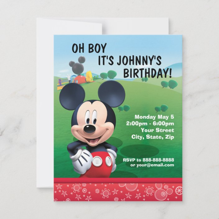 mickey mouse birthday invitation zazzle com