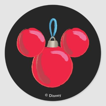 Mickey Mouse Christmas Ornament Classic Round Sticker