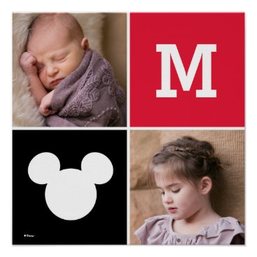 Mickey Mouse | Custom Photos & Monogram Poster
