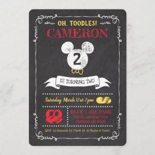 mickey birthday invitations zazzle