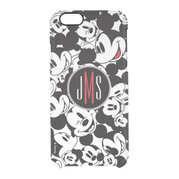 Mickey Mouse | Monogram Crowd Pattern Clear iPhone 6/6S Case