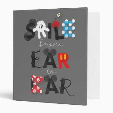 Mickey Mouse | Smile From Ear To Ear Binder