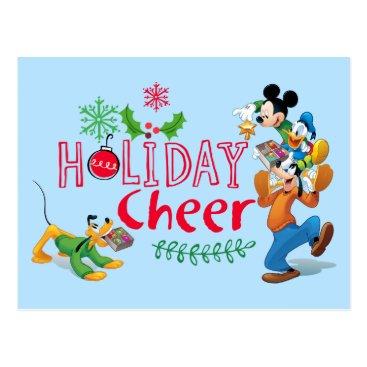 Mickey Spreading Holiday Cheer Postcard