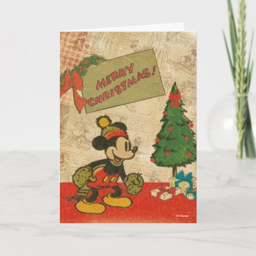 Mickey | Vintage Merry Christmas Holiday Card