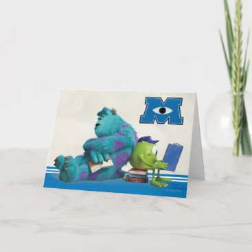 Mike and Sulley Reading Card