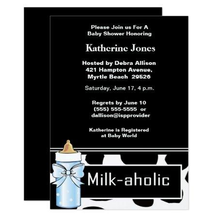 Milk themed Shower Party Invitation