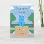 Milo Cat Smile Box Greeting Card
