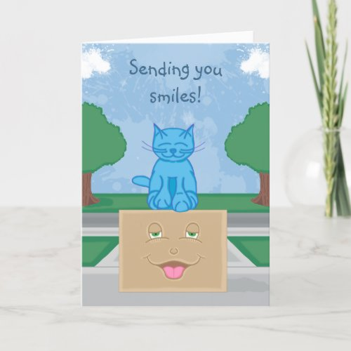 Milo Cat Smile Box Greeting Card