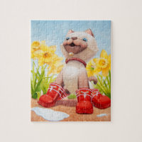 Ming Kitten 8x10 Inch Photo Puzzle with Gift Box