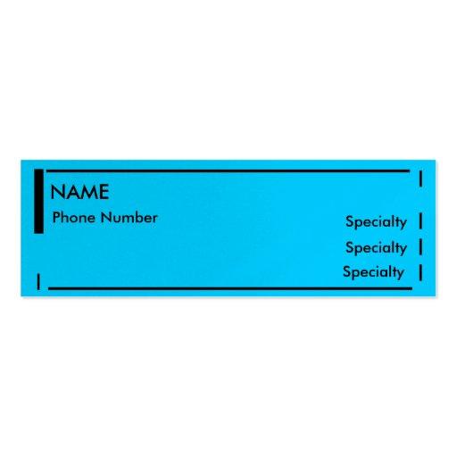 mini resume business card templates
