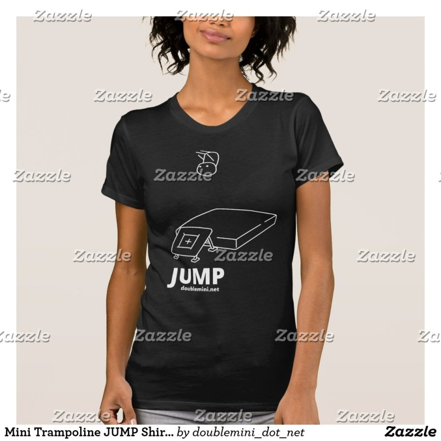 Mini Trampoline JUMP Shirt dark