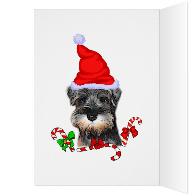 Miniature Schnauzer Christmas Gifts Card Zazzle