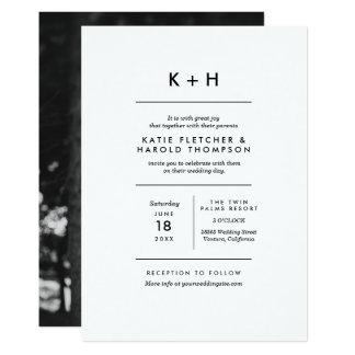 Simple Wedding Invitation Template Minimalist Photo Card