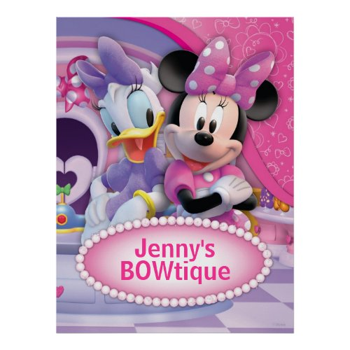 Minnie Mouse and Daisy Customizable Poster