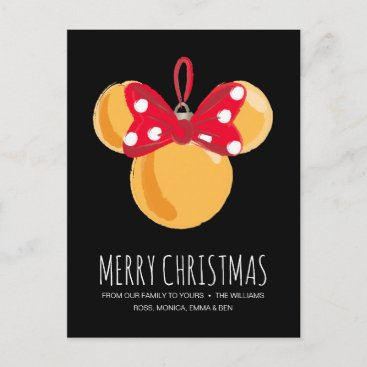 Minnie Mouse Christmas Ornament Holiday Postcard