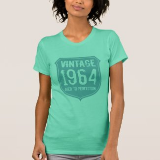 Mint 1964 aged to perfection tshirt for women