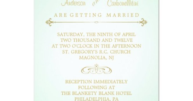 Mint And C Wedding Invitations