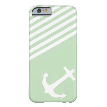 Mint Ice Cream Green Nautical Barely There iPhone 6 Case