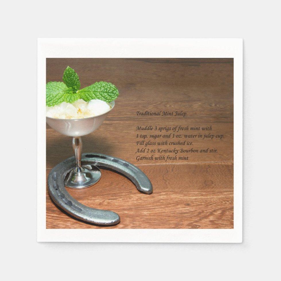 Mint Julep Cocktail napkin