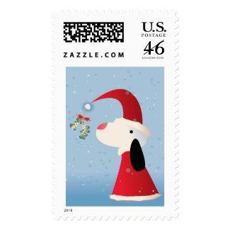 Mistletoe Pup stamp