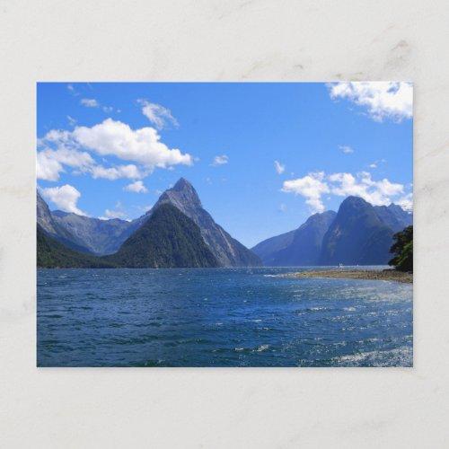 Mitre Peak, Milford Sound, NZ Postcard postcard