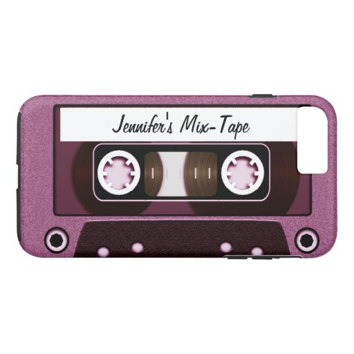 Mix Tape Personalized Pink iPhone 7 Plus Case