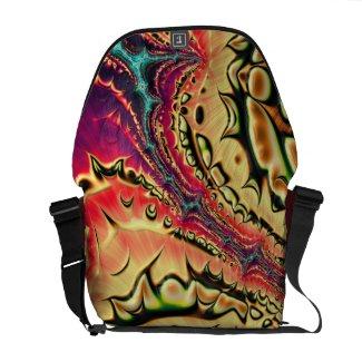Mixed Emotions Fractal Art Rickshaw Messenger Bag