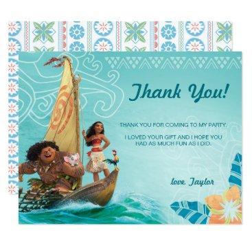 Moana | Oceania Birthday Thank You Card
