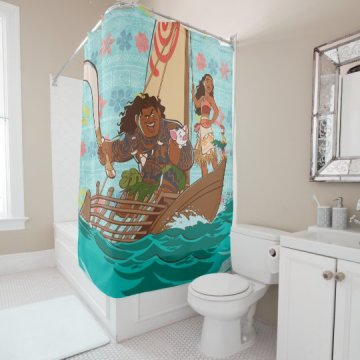 Moana   Set Your Own Course Shower Curtain   Zazzle com Moana   Set Your Own Course Shower Curtain