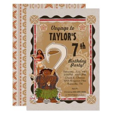 Moana   Tribal Birthday Card