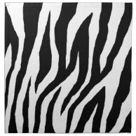 Mod Zebra Print Napkins on Zazzle