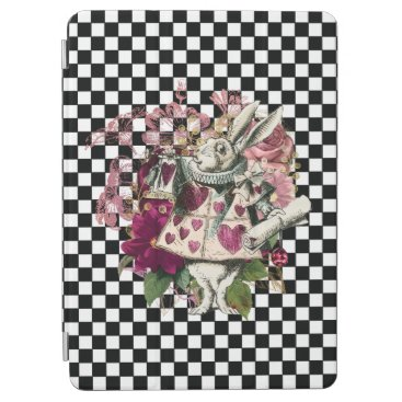 Modern Alice in Wonderland Rabbit Black and White iPad Air Cover