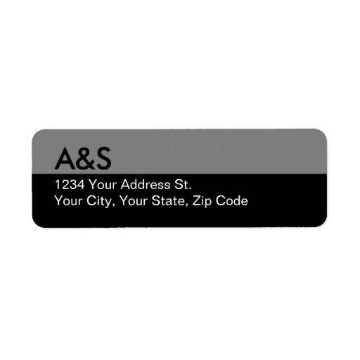 Black Return Address Labels