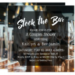 Modern, Bold Stock the Bar Couples Shower Invitation