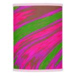 Modern Bright Pink Green Color Swish Lamp Shade
